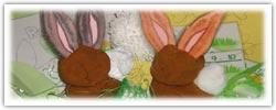 Happy hoppy rabbits playdough activities