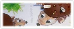 Hedgehog prickle building playdough activity