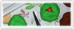 Horse chestnut conker playdough