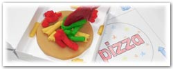 Pizza playdough activities