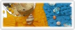 Playdough mash - summer seaside