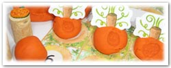 Pumpkin patch playdough counting game