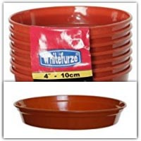 10cm plant pot and saucer - dice shaker tub!