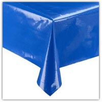 Blue heavy duty wipe clean table cover