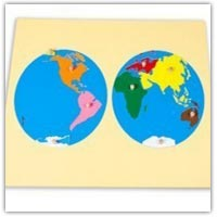 Extending activities - continents jigsaw puzzle
