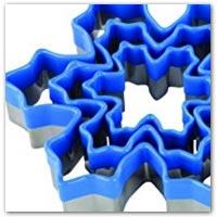 Snowflake playdough cutters