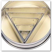 Triangle cookie cutters on amazon.co.uk