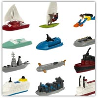 different play boats