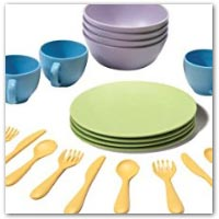 Buy plates bowls and play cutlery on amazon.co.uk