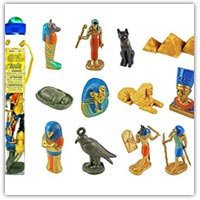 Platic Egyptian role play figures - role play set