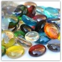Buy coloured glass pebbles on amazon.co.uk