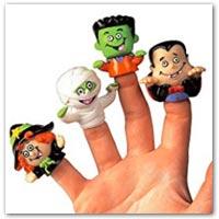 Buy small Halloween themed finger puppets on amazon.co.uk