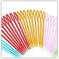 Children's safe plastic needles on amazon.co.uk