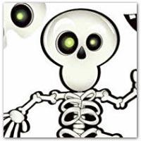 Pin the smile on the skeleton - buy on amazon.co.uk