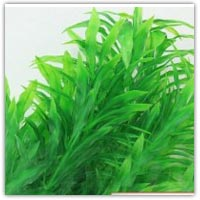 Artificial plastic bamboo shaped leaves