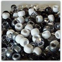 Buy black white silver bony beads on amazon.co.uk