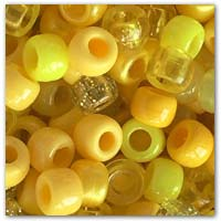Buy yellow mix of pony beads on amazon.co.uk