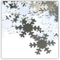 Buy silver snowflake confetti on Amazon.co.uk
