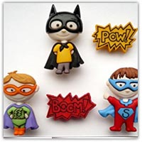 Buy superhero buttons to make playdough stampers on on Amazon.co.uk