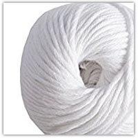 White cotton yarn on amazon.co.uk