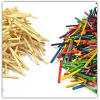 Craft matchsticks use with crayons or pens to colour brown or gather twigs from outside
