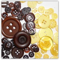 Yellow and brown craft buttons on amazon.co.uk