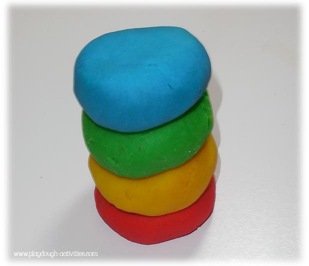 playdough stack