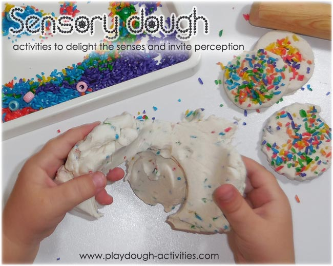 Sensory playdough activities