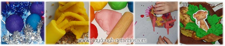 Different playdough activties